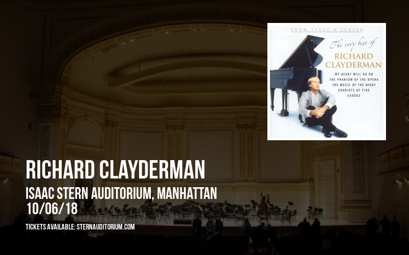 Richard Clayderman at Isaac Stern Auditorium