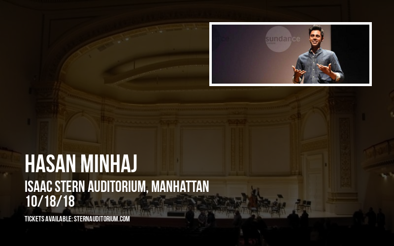 Hasan Minhaj at Isaac Stern Auditorium