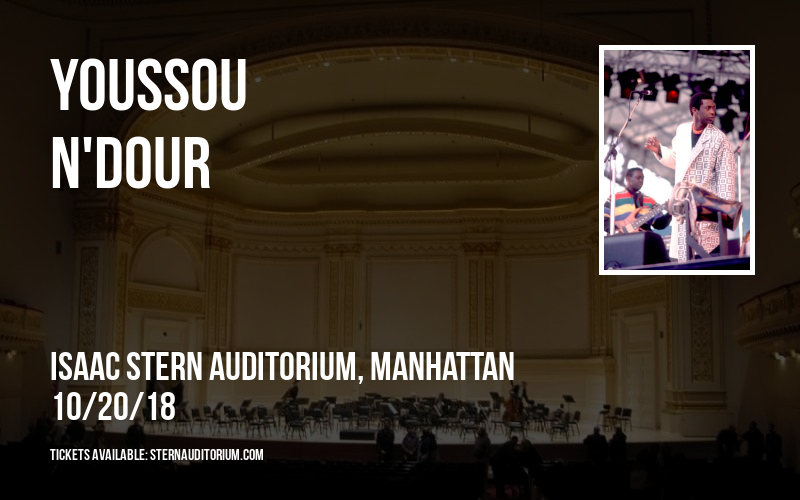 Youssou N'Dour at Isaac Stern Auditorium