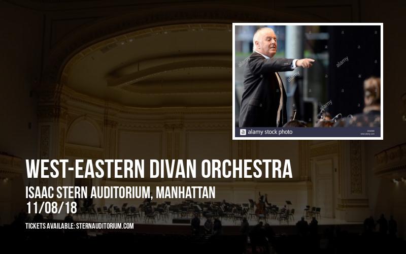 West-Eastern Divan Orchestra at Isaac Stern Auditorium