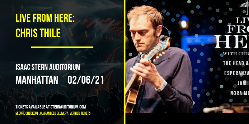 Live from Here: Chris Thile [CANCELLED] at Isaac Stern Auditorium