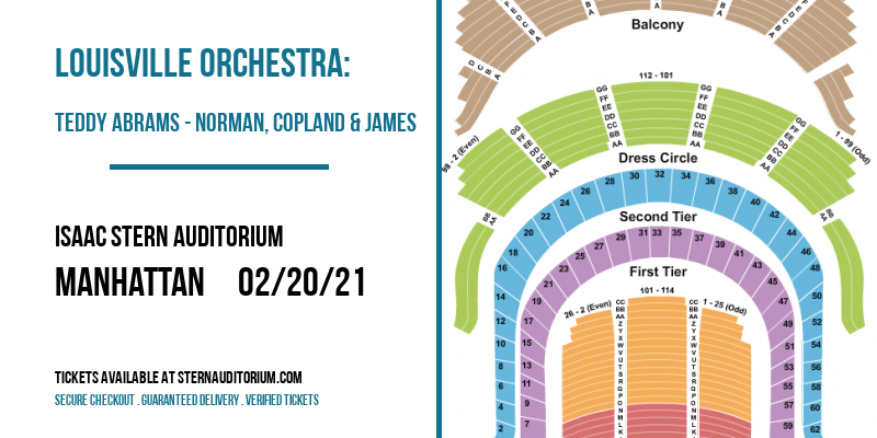 Louisville Orchestra: Teddy Abrams - Norman, Copland & James [CANCELLED] at Isaac Stern Auditorium