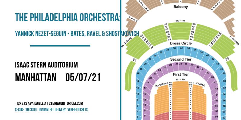 The Philadelphia Orchestra: Yannick Nezet-Seguin - Bates, Ravel & Shostakovich [CANCELLED] at Isaac Stern Auditorium
