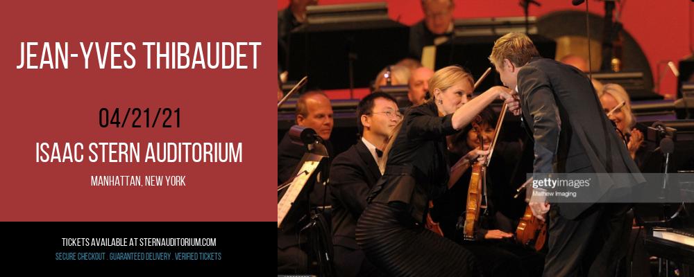 Jean-Yves Thibaudet [CANCELLED] at Isaac Stern Auditorium