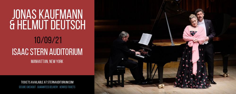 Jonas Kaufmann & Helmut Deutsch at Isaac Stern Auditorium