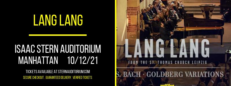 Lang Lang at Isaac Stern Auditorium