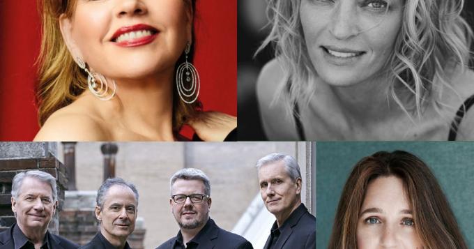 Renee Fleming, Uma Thurman, Emerson String Quartet & Simone Dinnerstein at Isaac Stern Auditorium