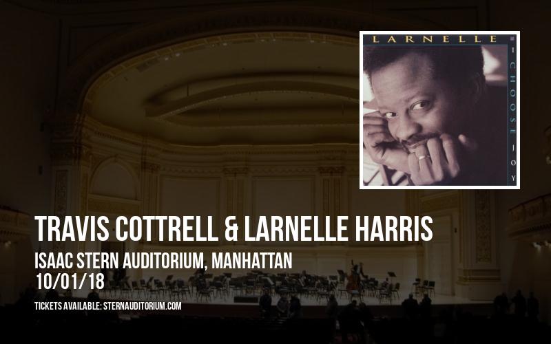 Travis Cottrell & Larnelle Harris at Isaac Stern Auditorium