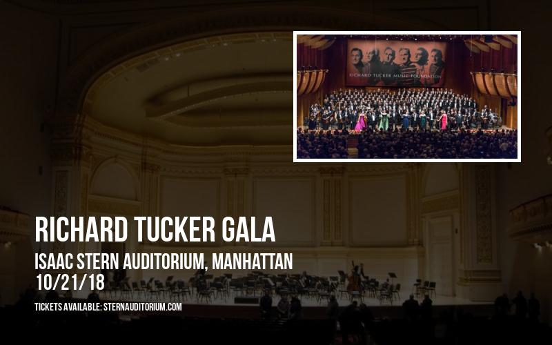 Richard Tucker Gala at Isaac Stern Auditorium