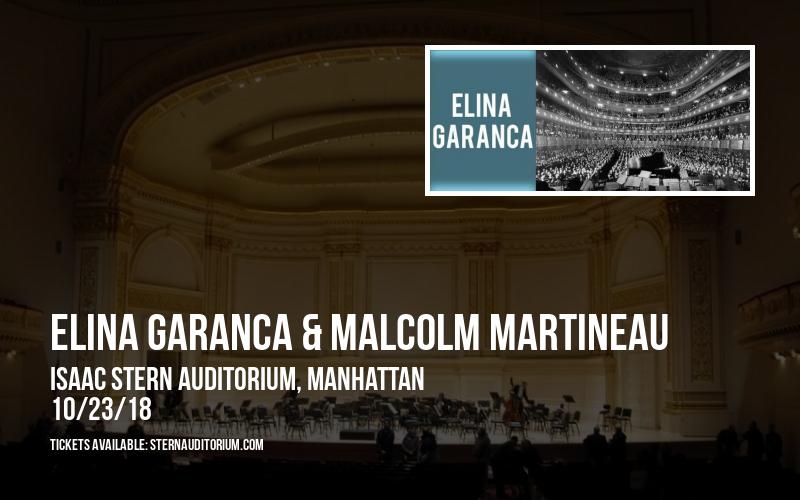 Elina Garanca & Malcolm Martineau at Isaac Stern Auditorium