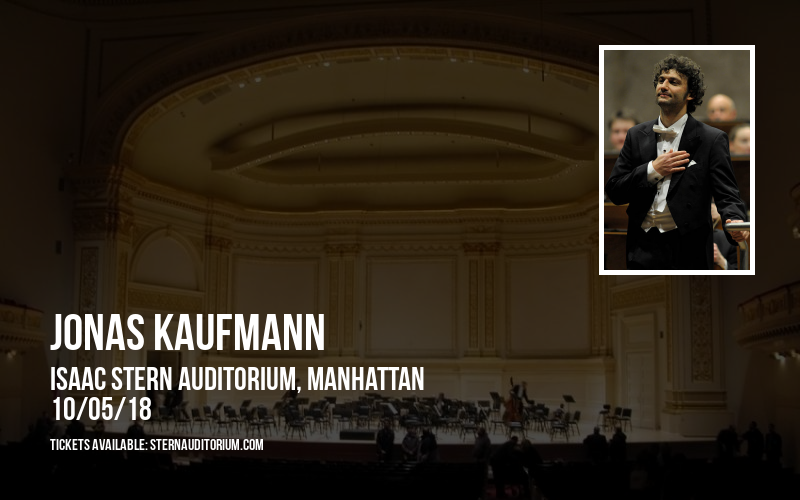 Jonas Kaufmann at Isaac Stern Auditorium