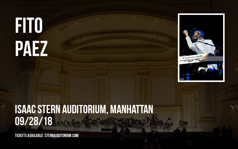 Fito Paez at Isaac Stern Auditorium