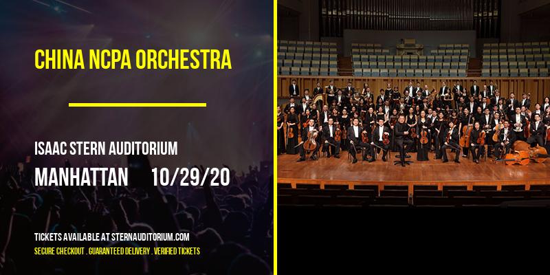 China NCPA Orchestra [CANCELLED] at Isaac Stern Auditorium