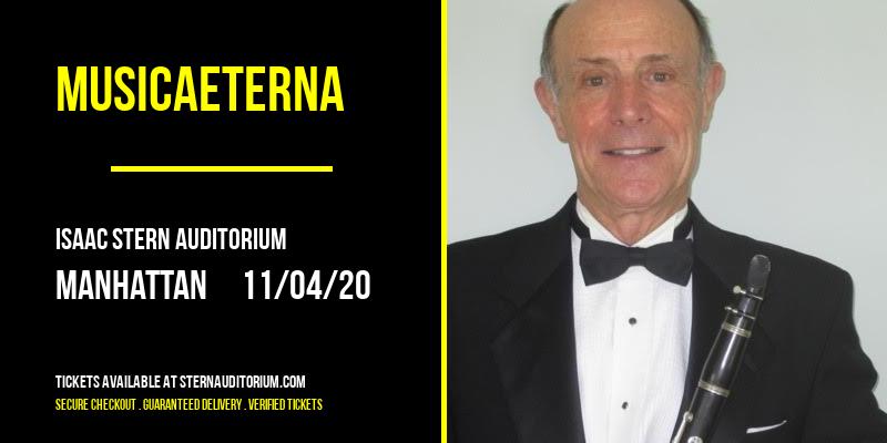 MusicAeterna [CANCELLED] at Isaac Stern Auditorium