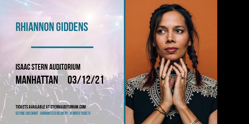 Rhiannon Giddens [CANCELLED] at Isaac Stern Auditorium