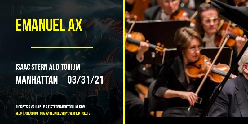 Emanuel Ax [CANCELLED] at Isaac Stern Auditorium