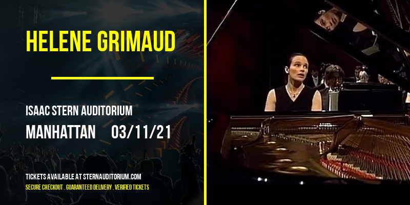 Helene Grimaud [CANCELLED] at Isaac Stern Auditorium