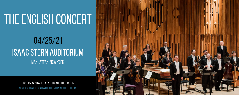 The English Concert [CANCELLED] at Isaac Stern Auditorium
