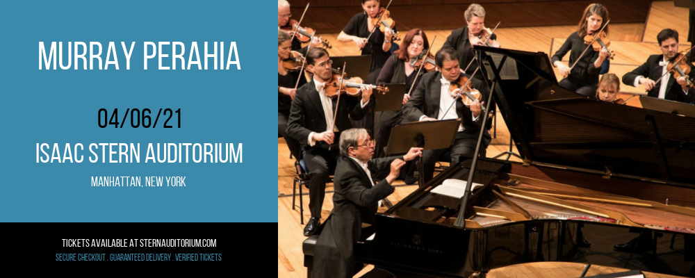 Murray Perahia [CANCELLED] at Isaac Stern Auditorium