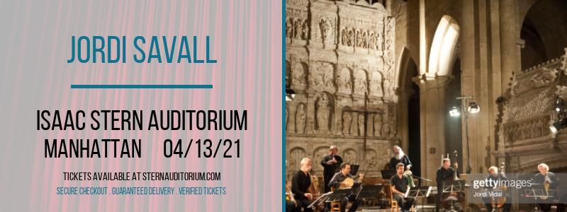 Jordi Savall [CANCELLED] at Isaac Stern Auditorium